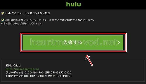 hulu登録画面3