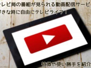 テレビ局の番組が見られる動画配信サービス紹介