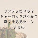 フジテレビドラマシャーロックがBL!?